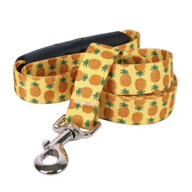 Pineapples Yellow EZ-Grip Dog Leash
