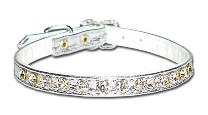 Luxury 1-Row Crystal Dog Collar