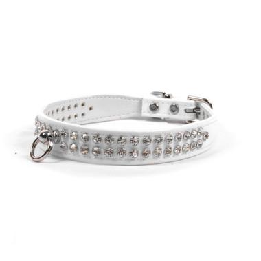 Luxury 2-Row Crystal Dog Collar