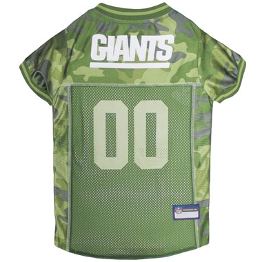N.Y. Giants NFL Football Camo Pet Jersey