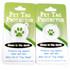 Light Blue Polka Dot HD Pet ID Tag