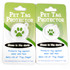 Green Polka Dot HD Pet ID Tag