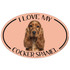 I Love My Cocker Spaniel Colorful Oval Magnet