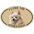 I Love My Pomeranian Colorful Oval Magnet