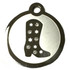 Swarovski Crystal and Stainless Steel Riding Boot Pet ID Tag