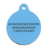 Island Floral Blue HD Pet ID Tag