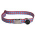 Southern Dawg Gingham Red and Blue Premium Dog Collar