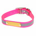REFLECTIVE SunGlo Personalized Name Plate Dog Collar