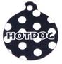 Black Polka Dot HD Pet ID Tag