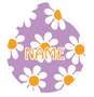 Lavender Daisy HD Pet ID Tag
