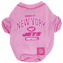 N.Y. Jets NFL Football PINK Pet T-Shirt