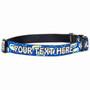 Personalized Geometric Blue Dog Collar