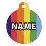Rainbow Stripes HD Pet ID Tag