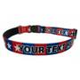 Personalized Colonial Stars Dog Collar