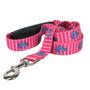Anchors on Pink Stripes EZ-Grip Dog Leash