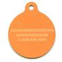 Madras Plaid Orange HD Pet ID Tag