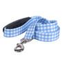 Southern Dawg Gingham Blue Premium Dog Leash