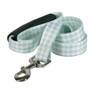 Southern Dawg Gingham Mint Premium Dog Leash