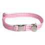 Southern Dawg Gingham Pink Premium Dog Collar