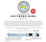 Southern Dawg Gingham Yellow Premium Dog Collar