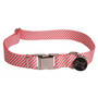 Southern Dawg Seersucker Red Premium Dog Collar