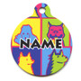 Pop Art Dogs HD Pet ID Tag