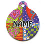 Crazy Hearts Hi-Def Pet ID Tag