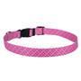 Pink and Purple Diagonal Plaid Dog Collar