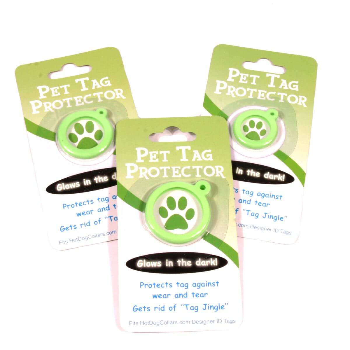 Tag prtoector for your green daisy custom pet id tag