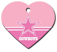 Dallas Cowboys PINK Pet ID Tag - With Engraving