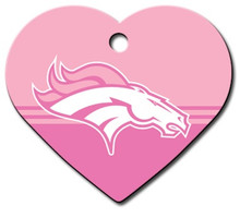Denver Broncos PINK Pet ID Tag - With Engraving