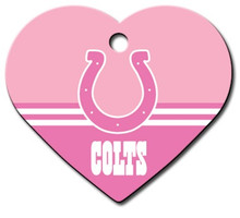 Indianapolis Colts PINK Pet ID Tag - With Engraving