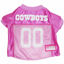 Dallas Cowboys PINK NFL Football Pet Jersey