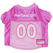 Denver Broncos PINK NFL Football Pet Jersey