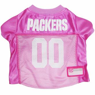 Green Bay Packers PINK NFL Football Pet Jersey