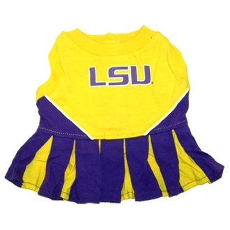 LSU Tigers Dog Cheerleader Outfit