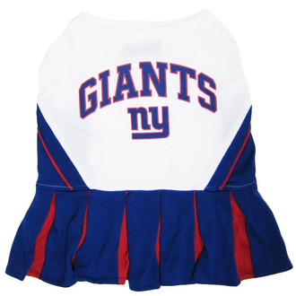 New York Giants NFL Football Pet Cheerleader Outfit