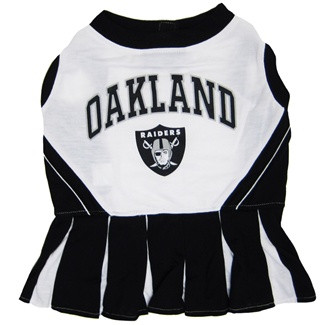 Oakland Raiders NFL Football Pet Cheerleader Outfit