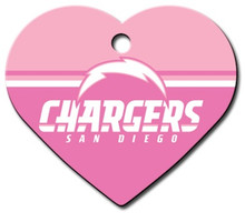 San Diego Chargers PINK Pet ID Tag - With Engraving