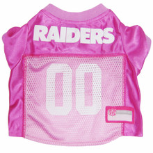 Oakland Raiders PINK NFL Football Pet Jersey