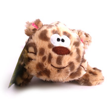 Plush Cheetah Squeaker Dog Toy