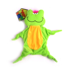 Plush Frog Jungle-Tie Dog Toy With Squeaker
