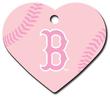 PINK Boston Red Sox Engraved Pet ID Tag