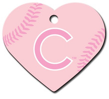 PINK Chicago Cubs Engraved Pet ID Tag