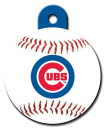 Chicago Cubs ROUND Engraved Dog ID Tag