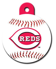 Cincinnati Reds ROUND Engraved Dog ID Tag