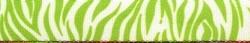 Zebra Green Coupler Dog Leash