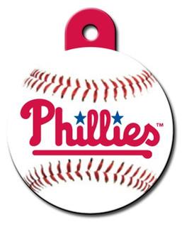 Philadelphia Phillies ROUND Engraved Dog ID Tag