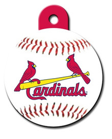 St. Louis Cardinals ROUND Engraved Dog ID Tag