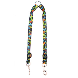 Neon Peace Signs Coupler Dog Leash